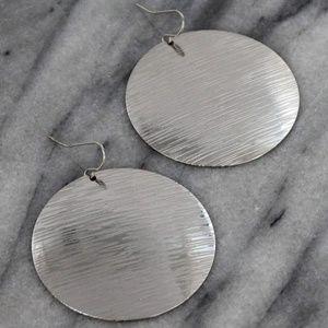 Silver Disk earrings